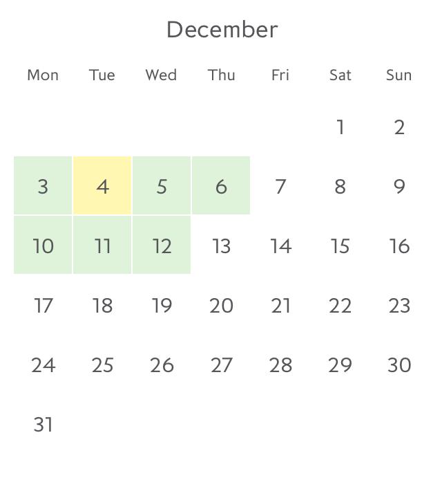 Promotion fare availability Paris in December