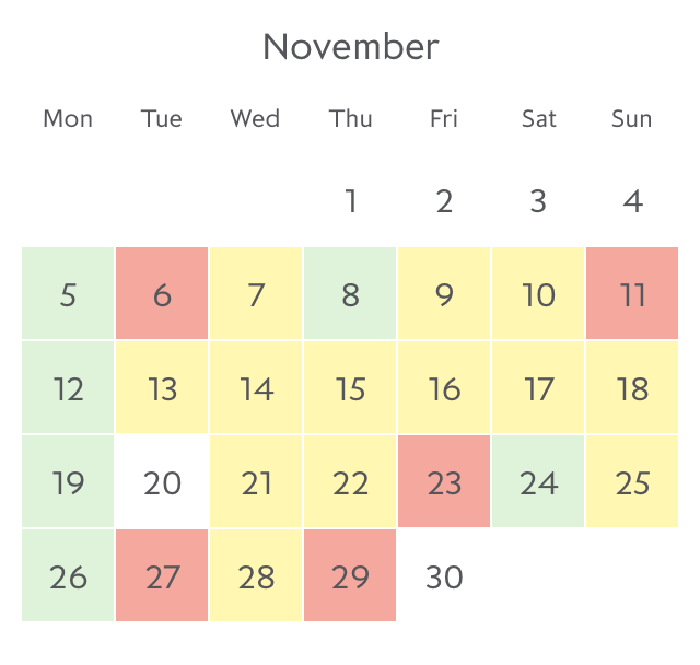 Promotion fare availability Paris in November