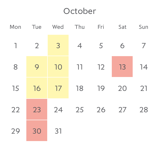 Promotion fare availability Paris in October