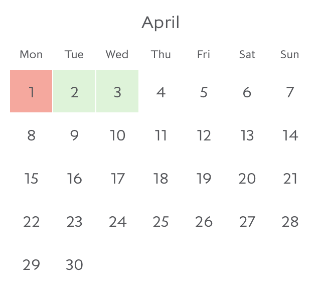 Promotion fare availability Paris in April