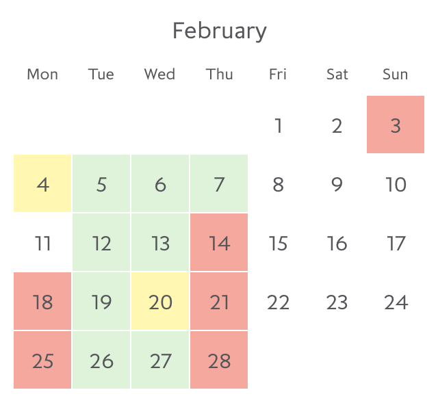 Promotion fare availability Paris in February