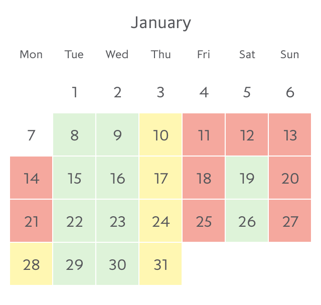 Promotion fare availability Paris in January