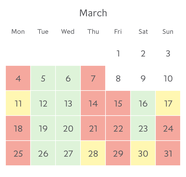 Promotion fare availability Paris in March