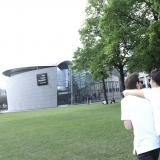 Couple walking towards the Van Gogh Museum