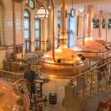 Massive copper beer vats in the Heineken brewery