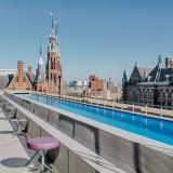 The rooftop pool at W