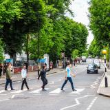 People on the Abbey Road crossing