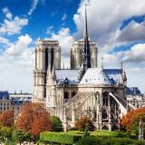 Rear view of Notre Dame cathedral