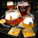 Selection of glasses with different types of beer