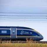 eurostar train on the move