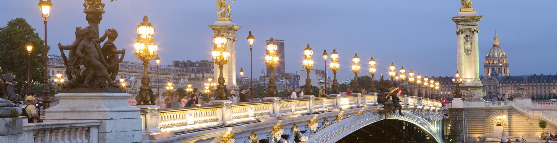 Pont Alexandre 3 at night