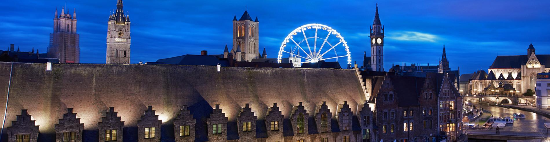 Ghent night time panorama