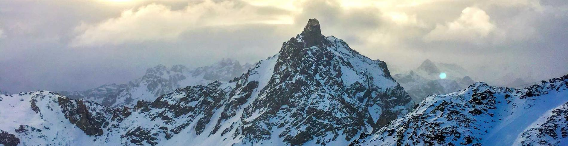 Mountain shot of Courchevel