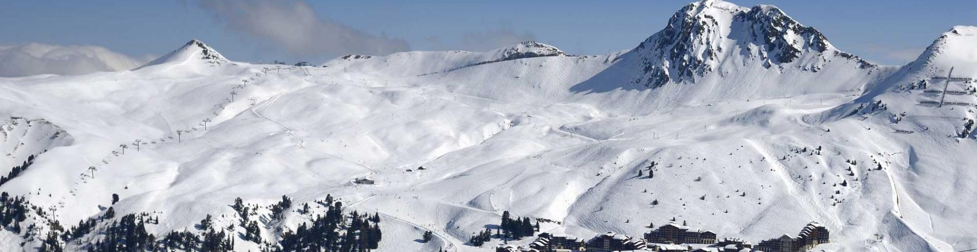 Mountain view above La Plagne