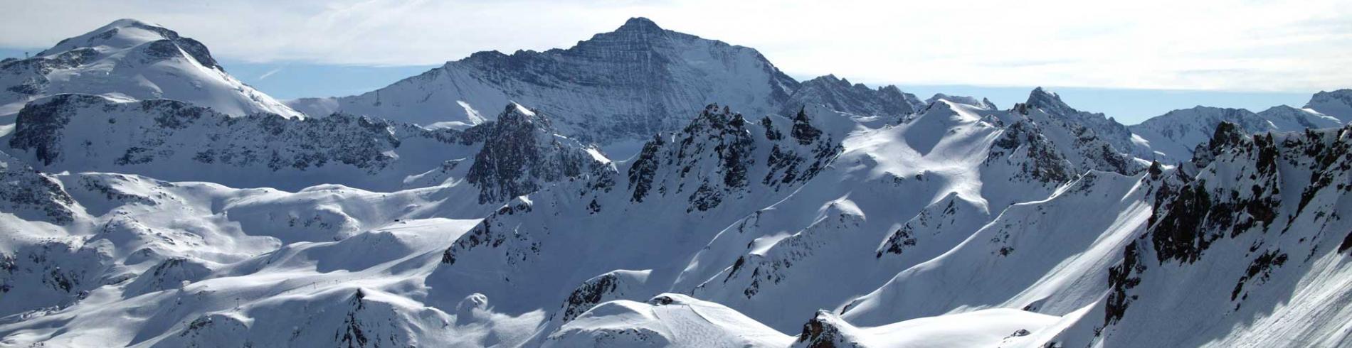 panorama of the mountains near Tignes