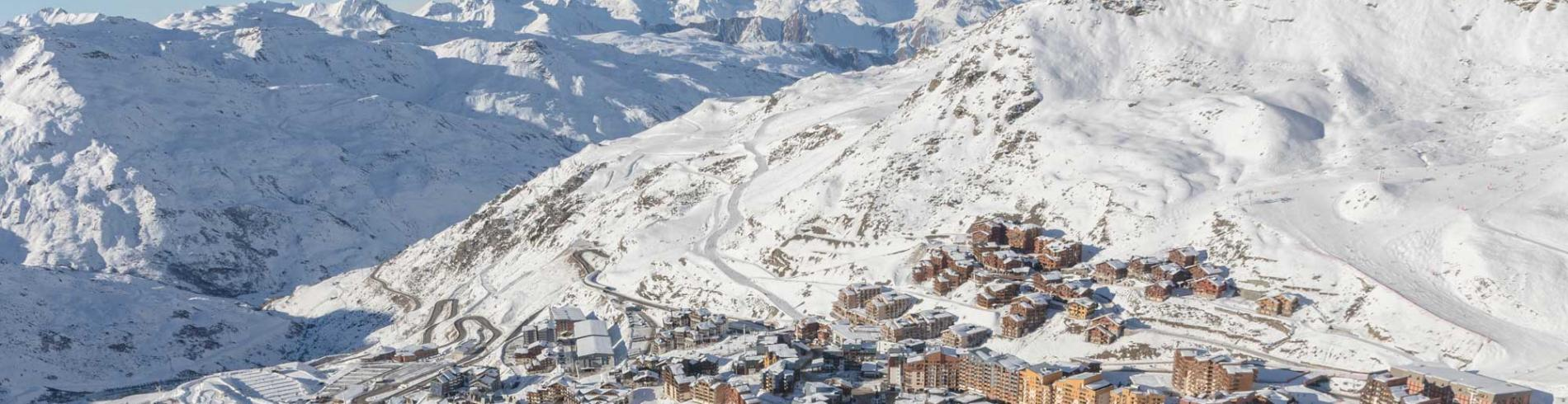 Val Thorens from the air