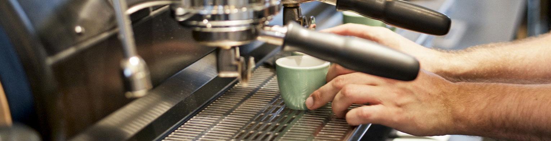 Barista preparing a coffee