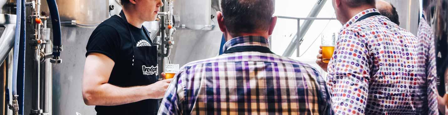 People learn how to brew their own beer