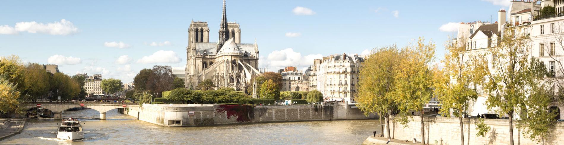 View of Ile de la Cite from the Seine
