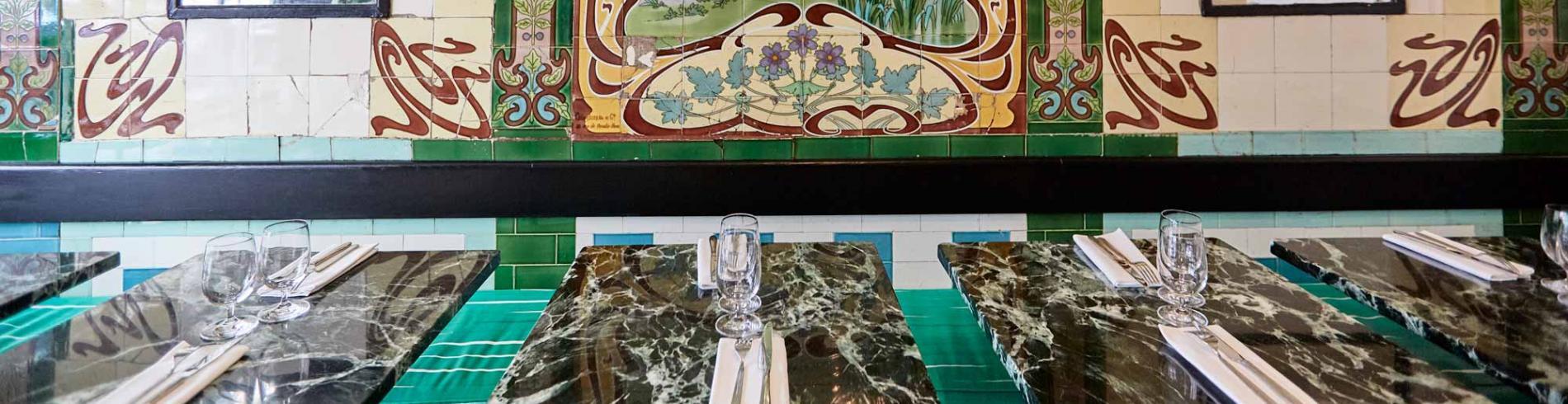 The luxurious decor at Restaurant Da Graziella