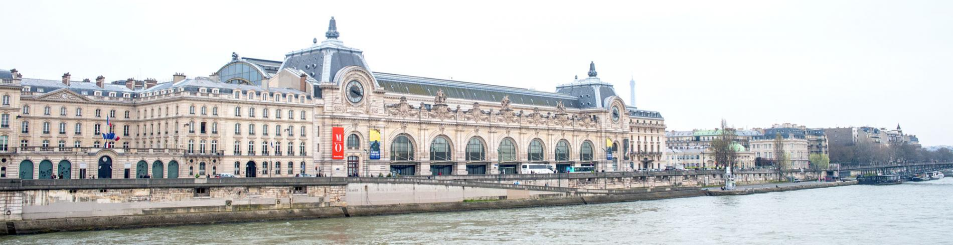 View of the Musee d'Orsay from across the river