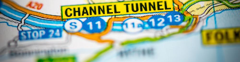 map view of the Channel Tunnel