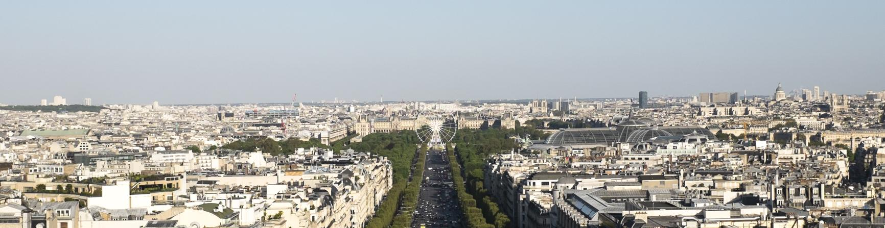 View up the Champs Elysees from the 8th Arrt.