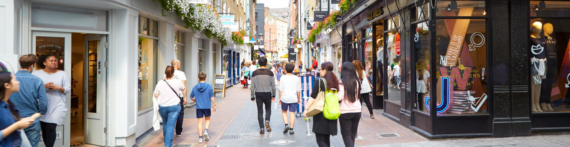 People shopping on Carnaby Street