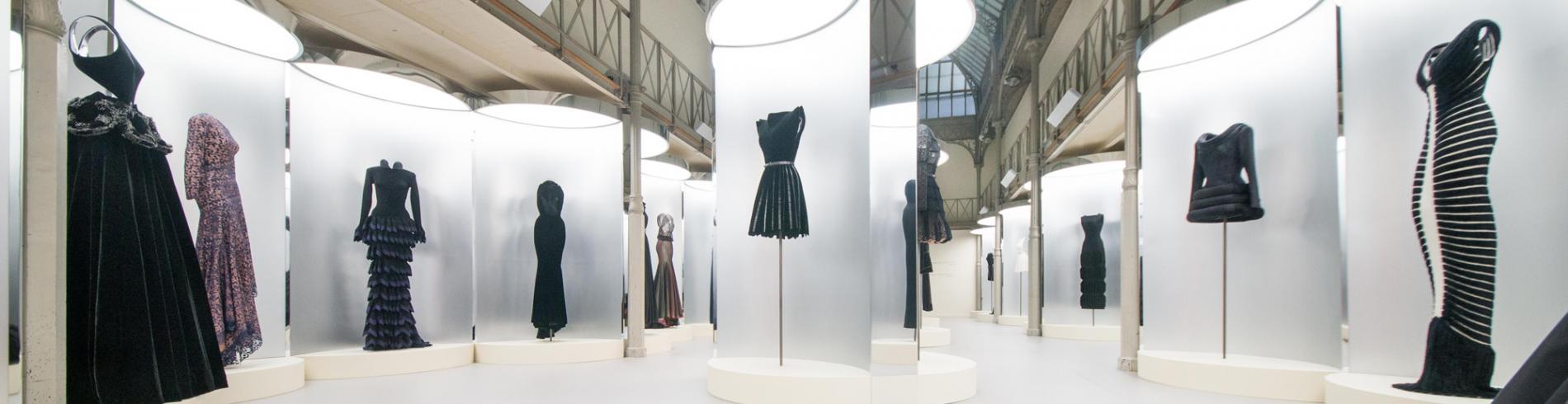 A sober display of Alaïa's dramatic gowns