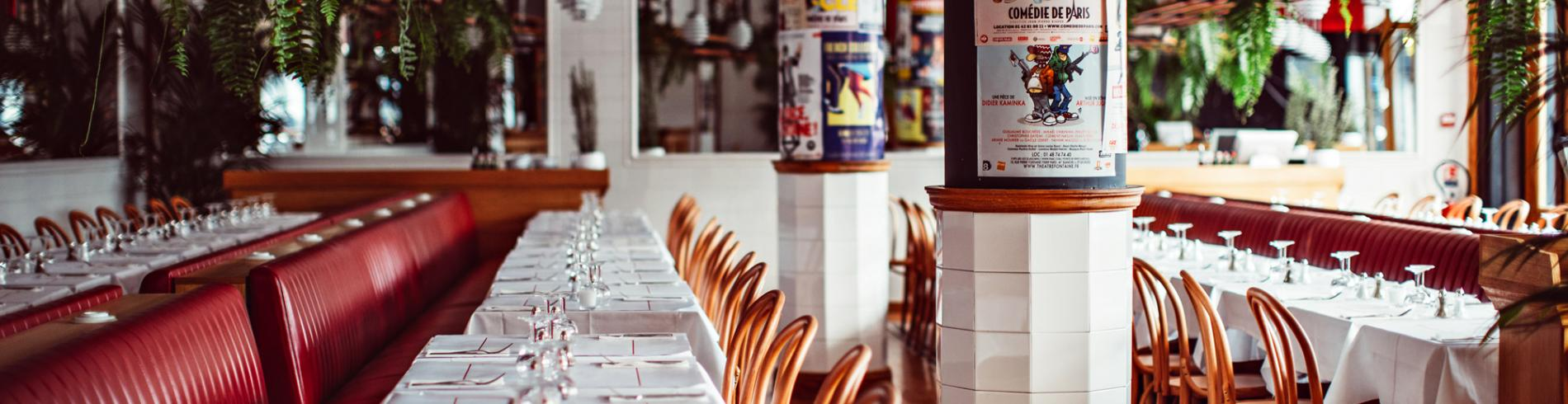 Interior shot of Bouillon restaurant