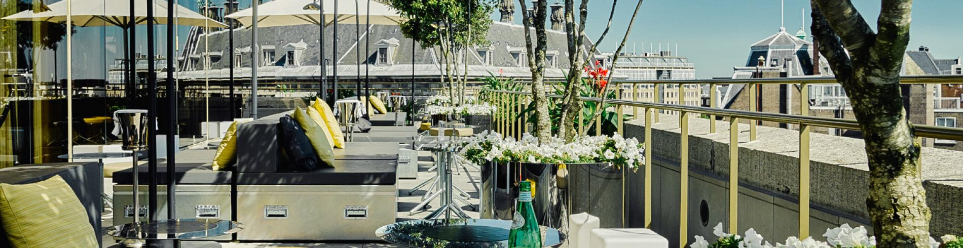 View of the roof terrace at Mr Porter