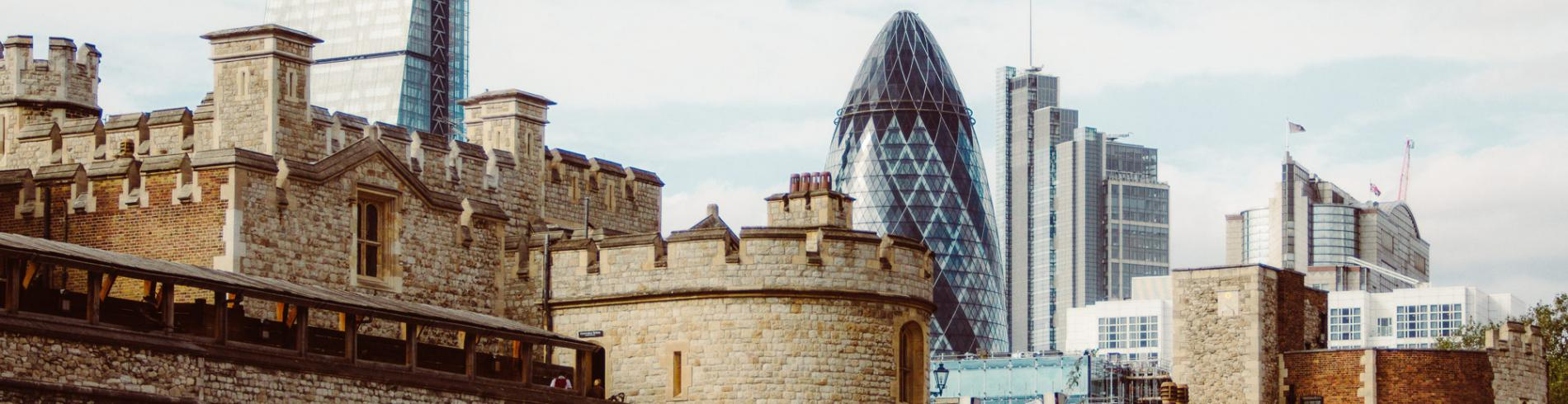 The Tower of London and Gherkin