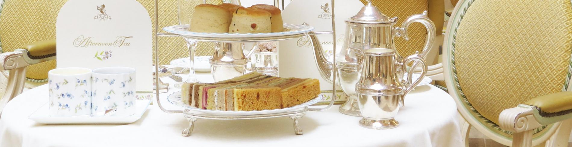 The Ritz afternoon tea table