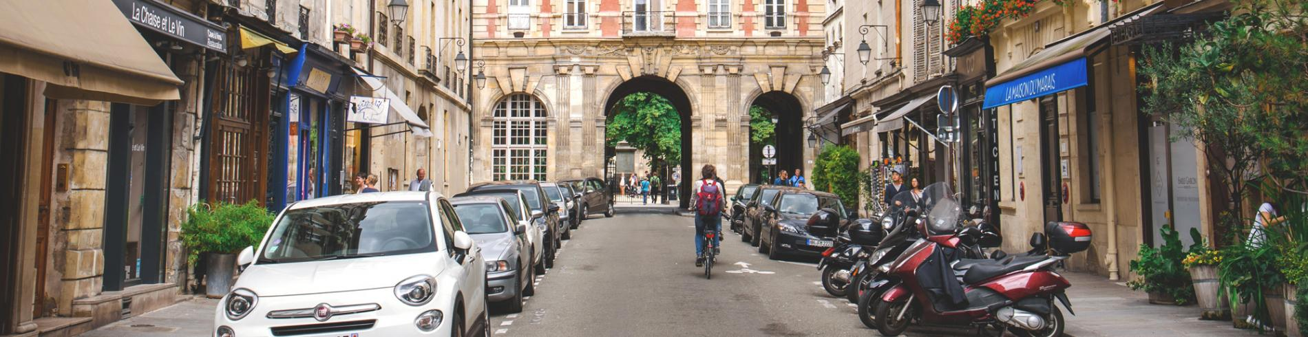 Entrance to the Place des Voges in the Marais