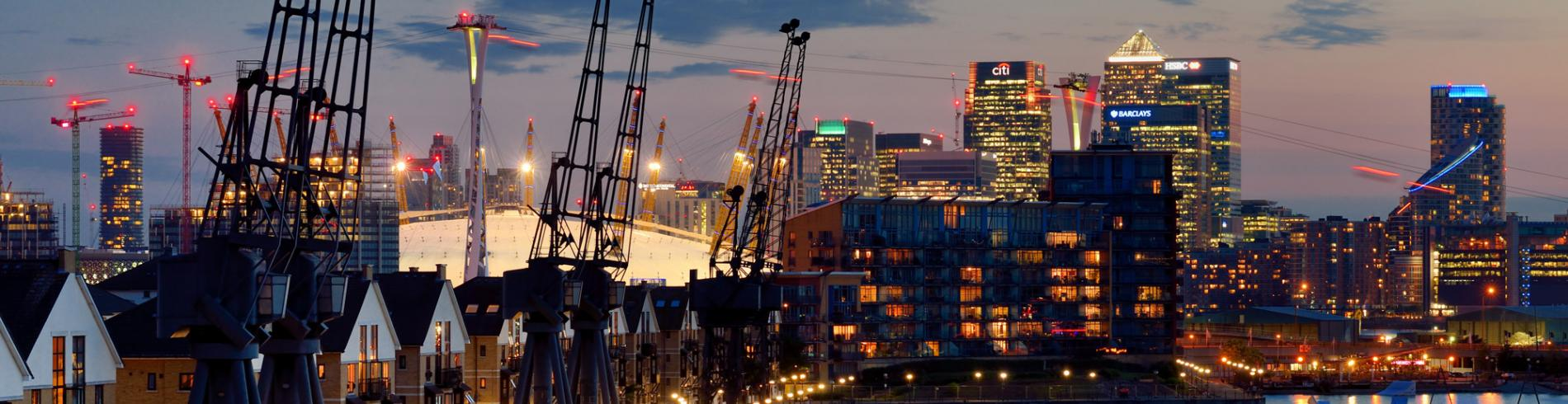 Dockland's views in London