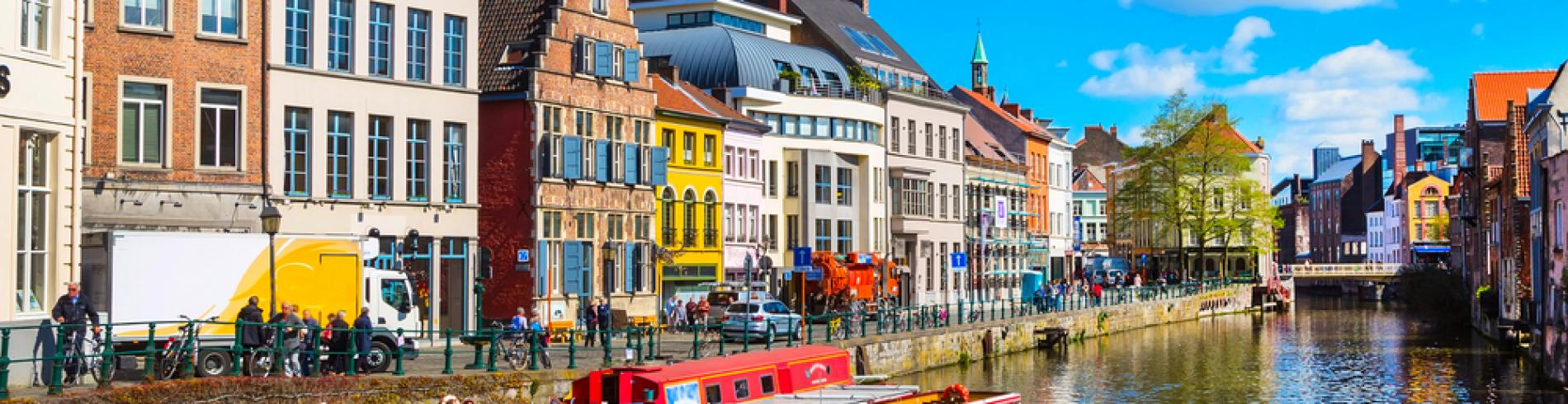 Traditional houses in Ghent
