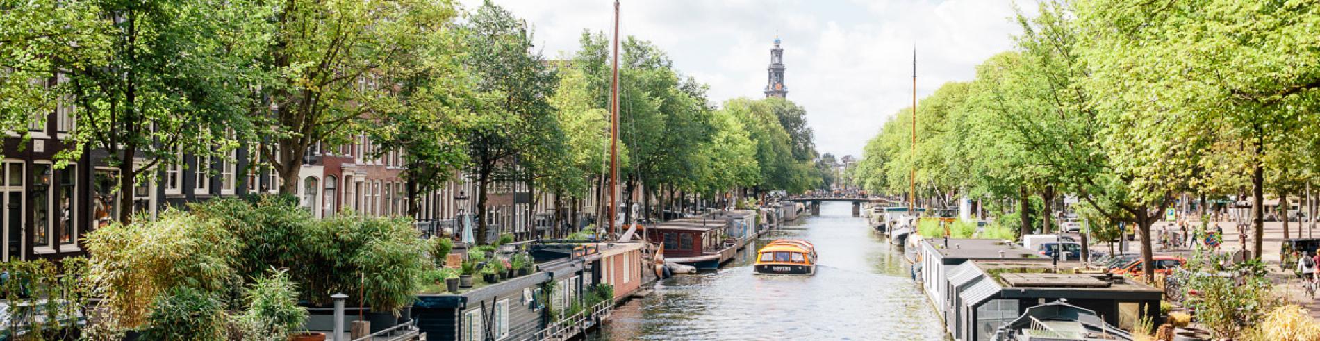 Prinsengracht and Westerkerk in Amsterdam