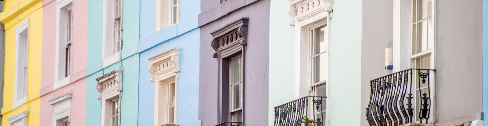Colorful Notting Hill facades