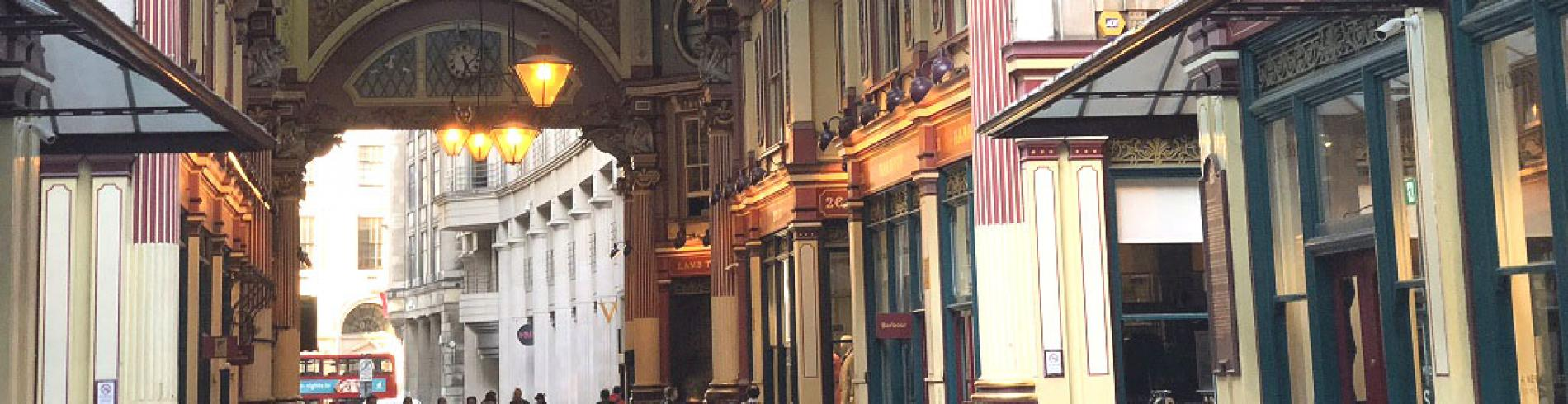 Leadenhall Market, used in the Harry Potter films