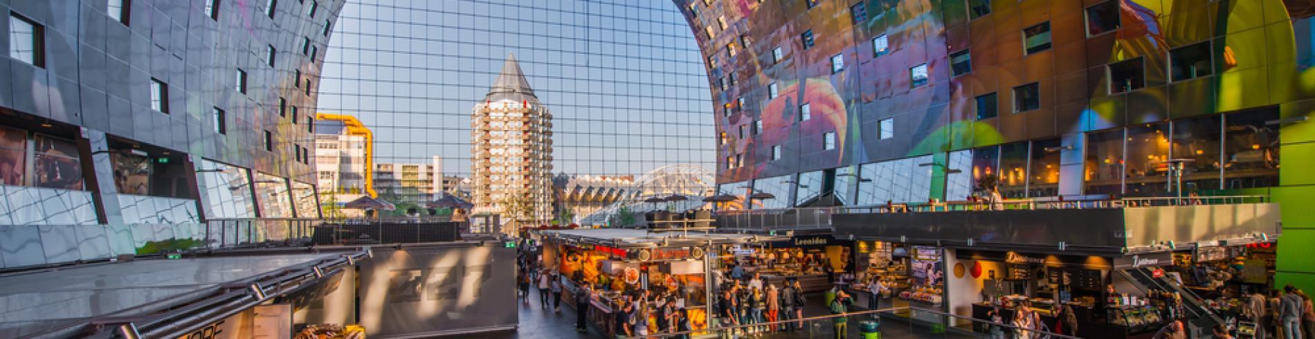 Modern market hall in Rotterdam