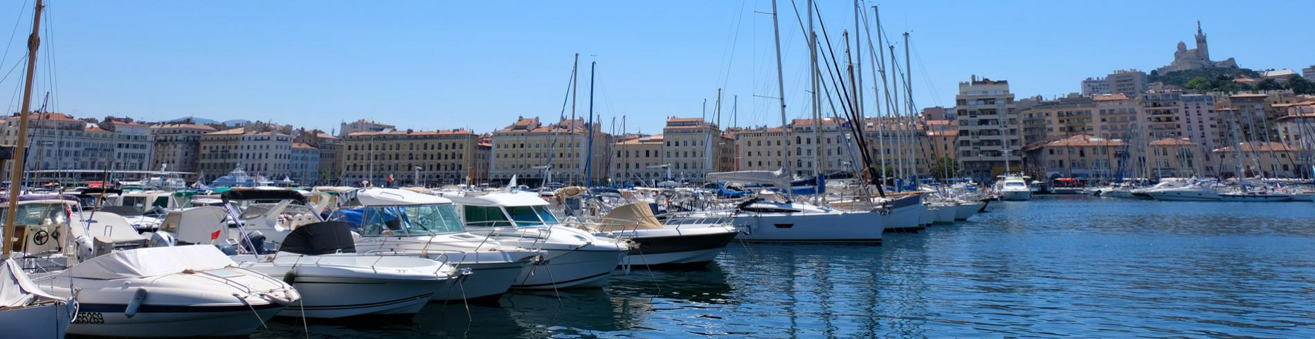 Boats in Marseille port
