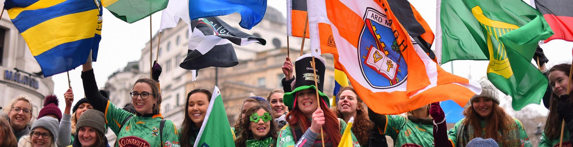 St Patrick's Day flags
