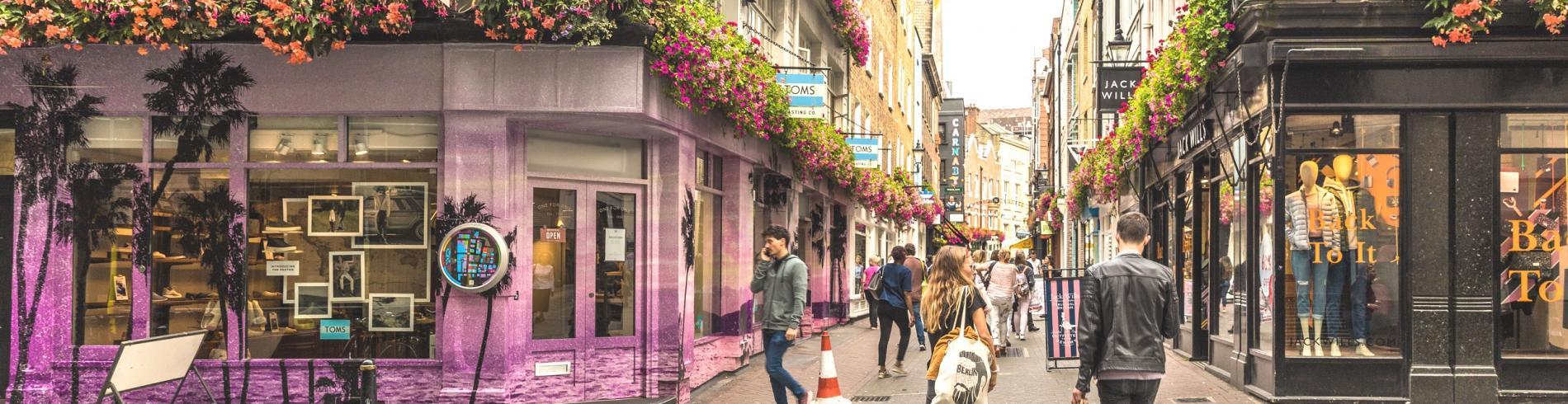 Carnanby street in London