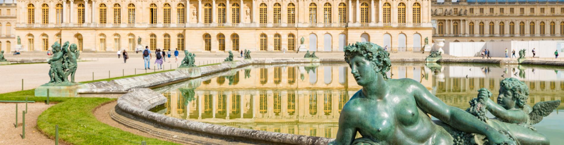 The Royal Palace of Versailles in France