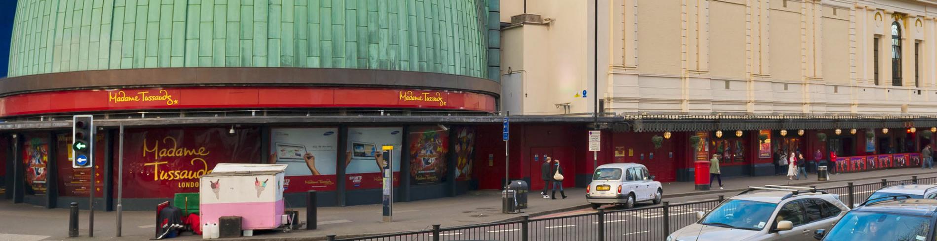 Madame Tussauds museum's facade