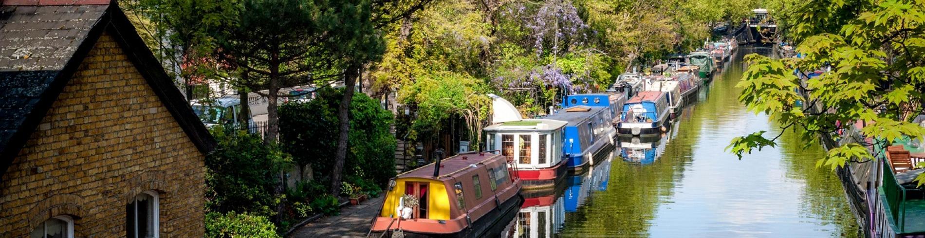 Regents Canal river boats