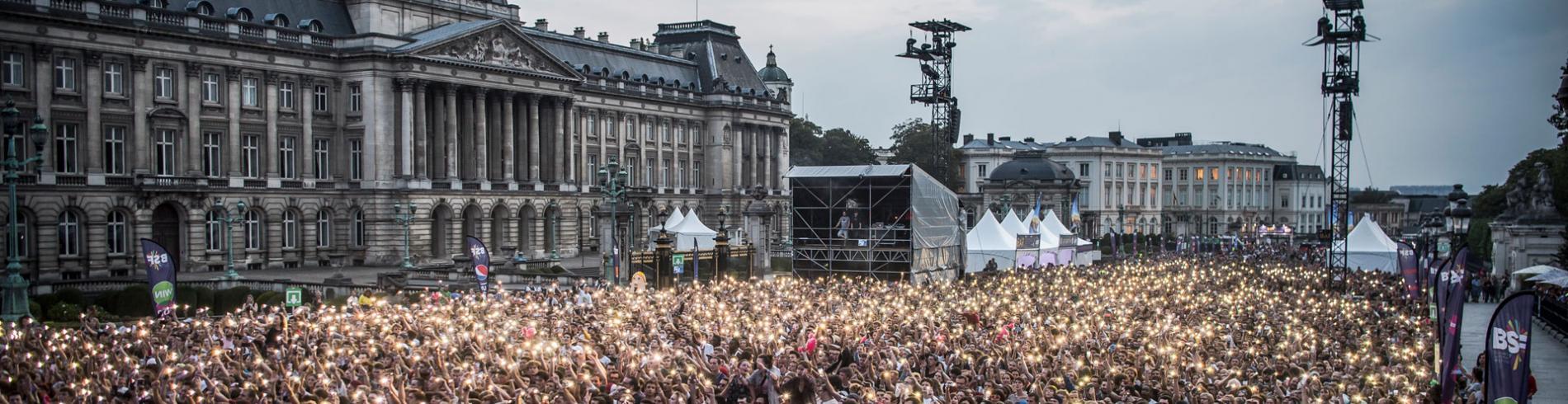 Music festival in Brussels