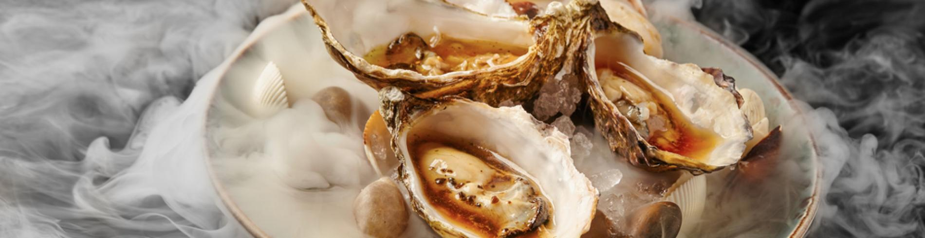 Fine dinning oysters