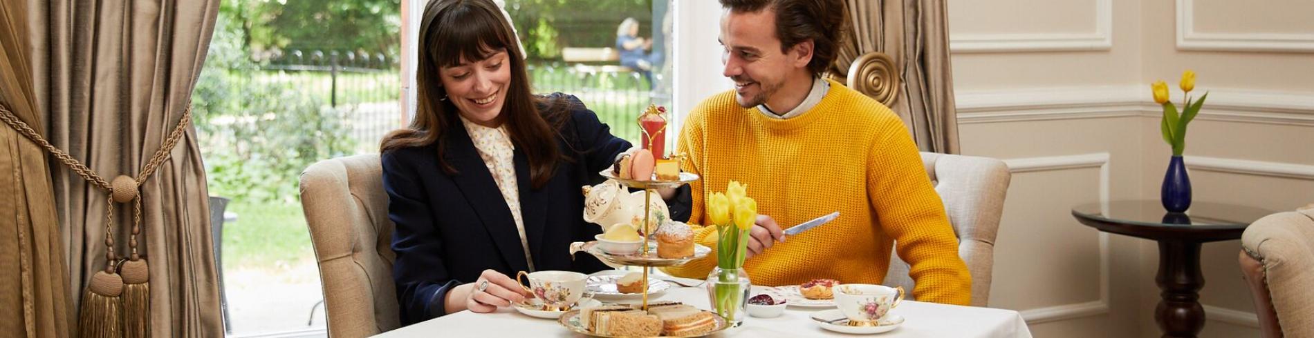 couple having afternoon tea