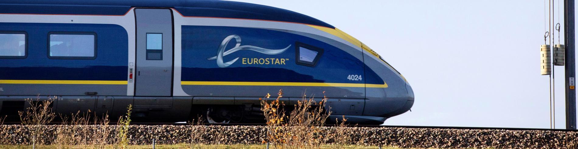 eurostar train on the move